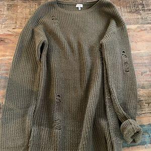 TOBI Distressed Sweater Dress